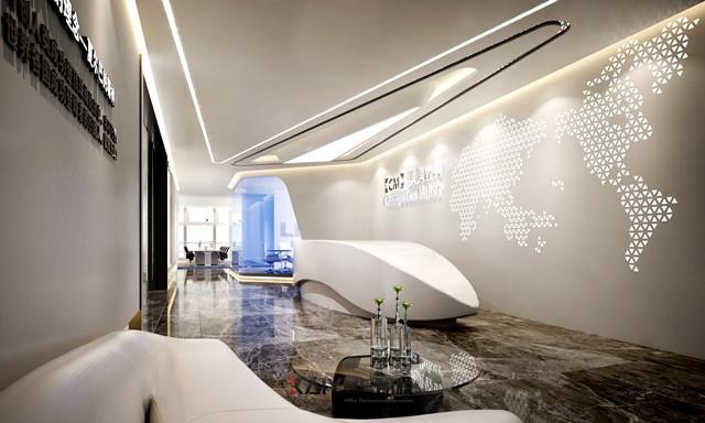 空間律動-美美咨詢公司辦公室裝修效果圖整套
