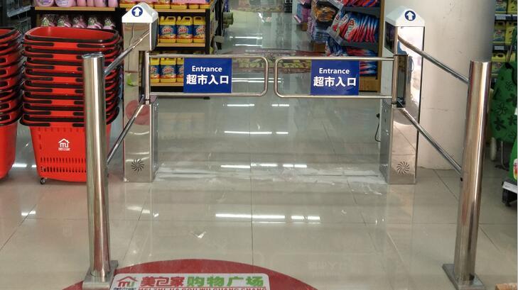 超市感应门,服装超市感应门,超市入口门禁