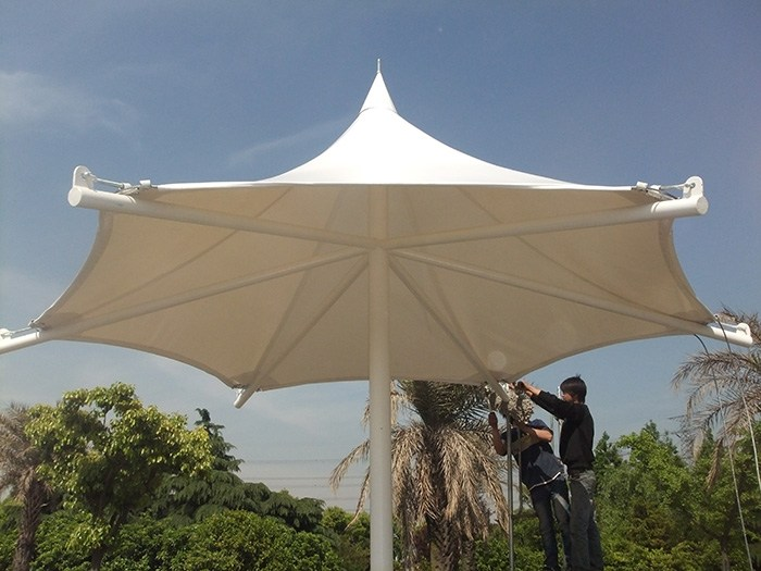全国承接张拉膜加工景观膜结构设计安装白色环保膜结构