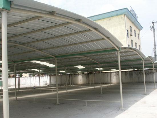 工厂钢结构电动车自行车棚小型汽车充电桩广场表演舞台膜结构