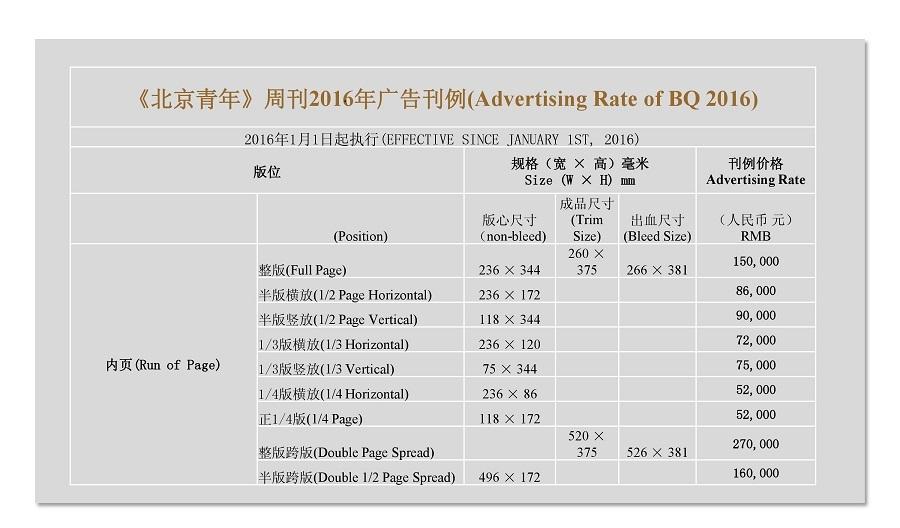 北京青年周刊 广告电话图片