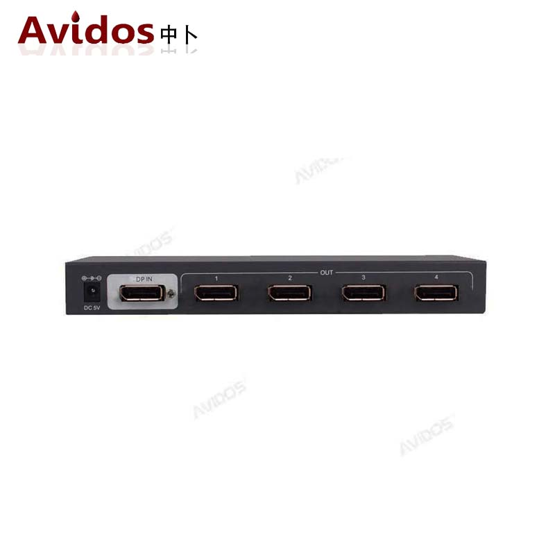 AVIDOS DisplayPort splitter一分四DP分配放大器1进4出 支持4K