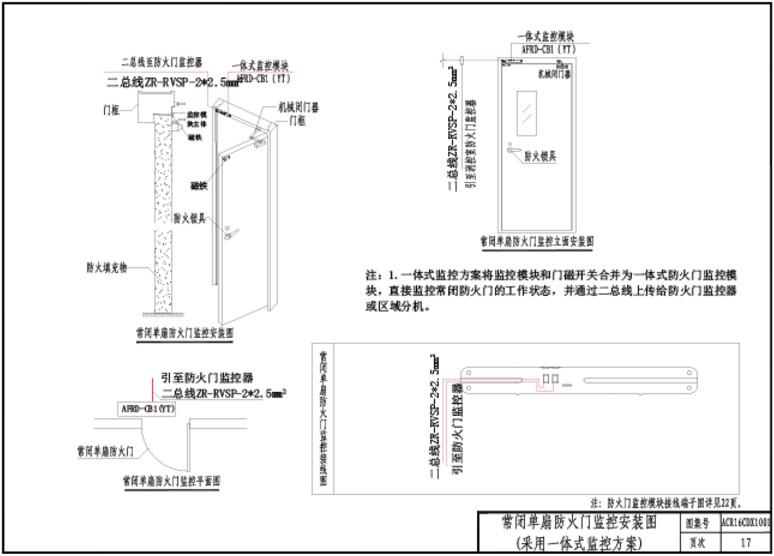 380伏電機防火門接線圖