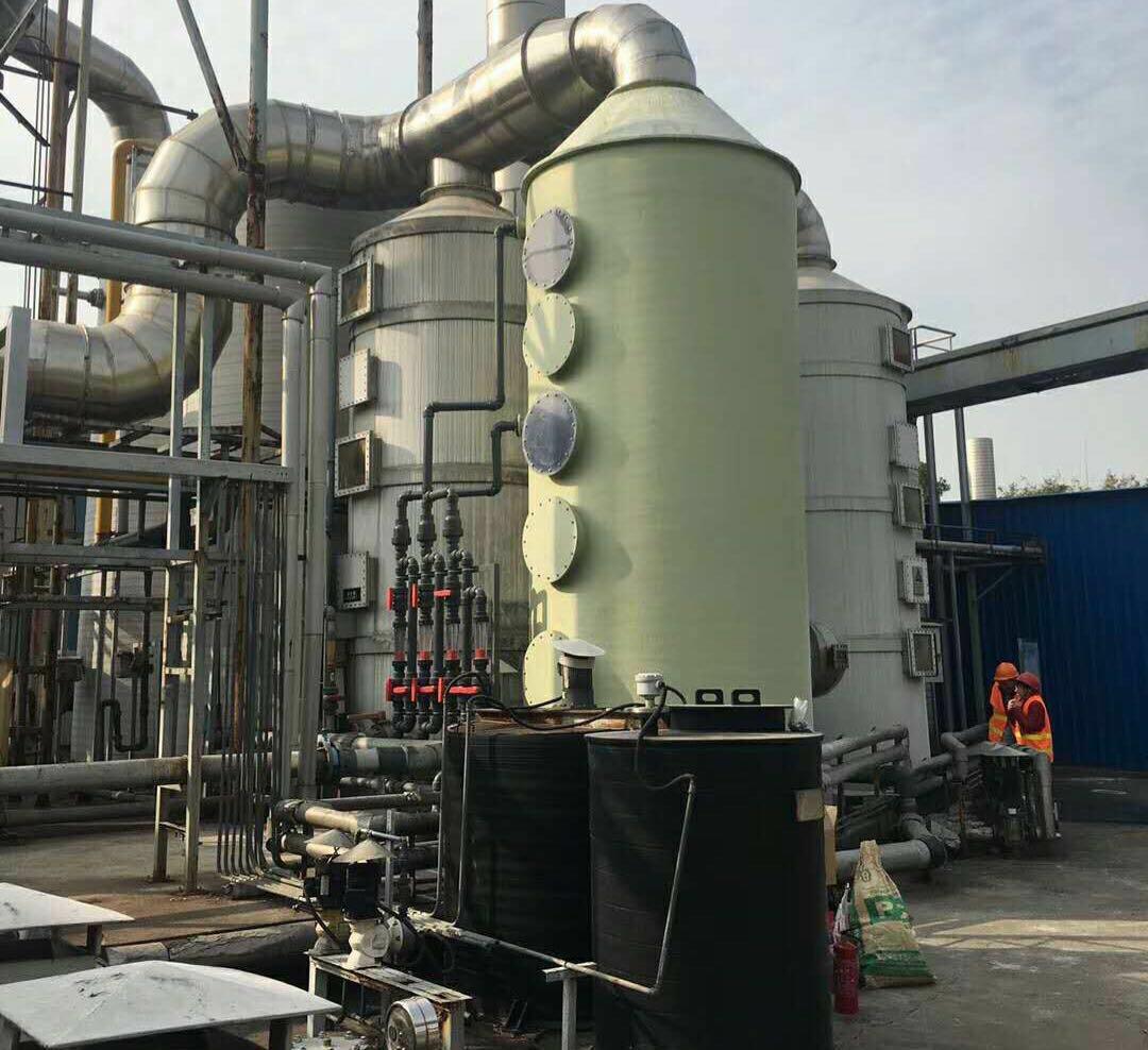 玻璃钢喷淋塔 有机废气处理设备设计方案