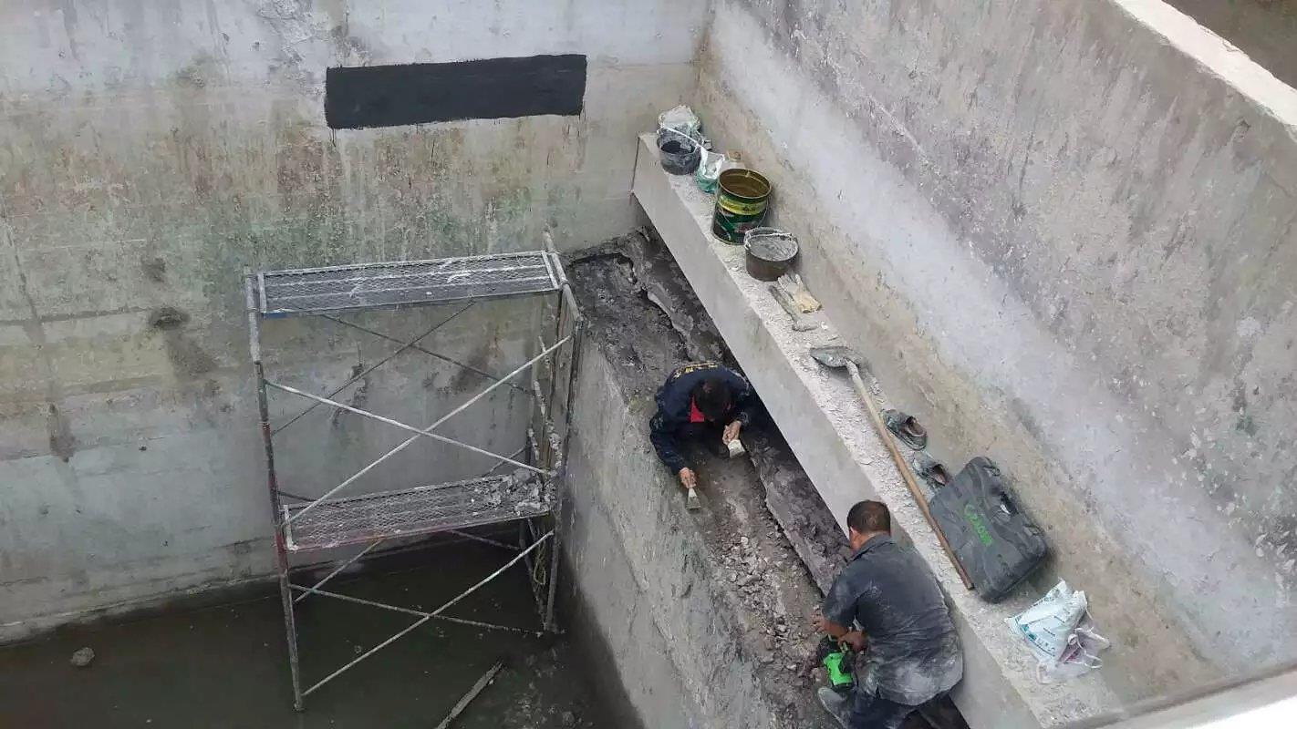 地下水池防水堵漏施工
