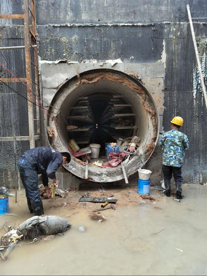 热力顶管井防水堵漏施工预算