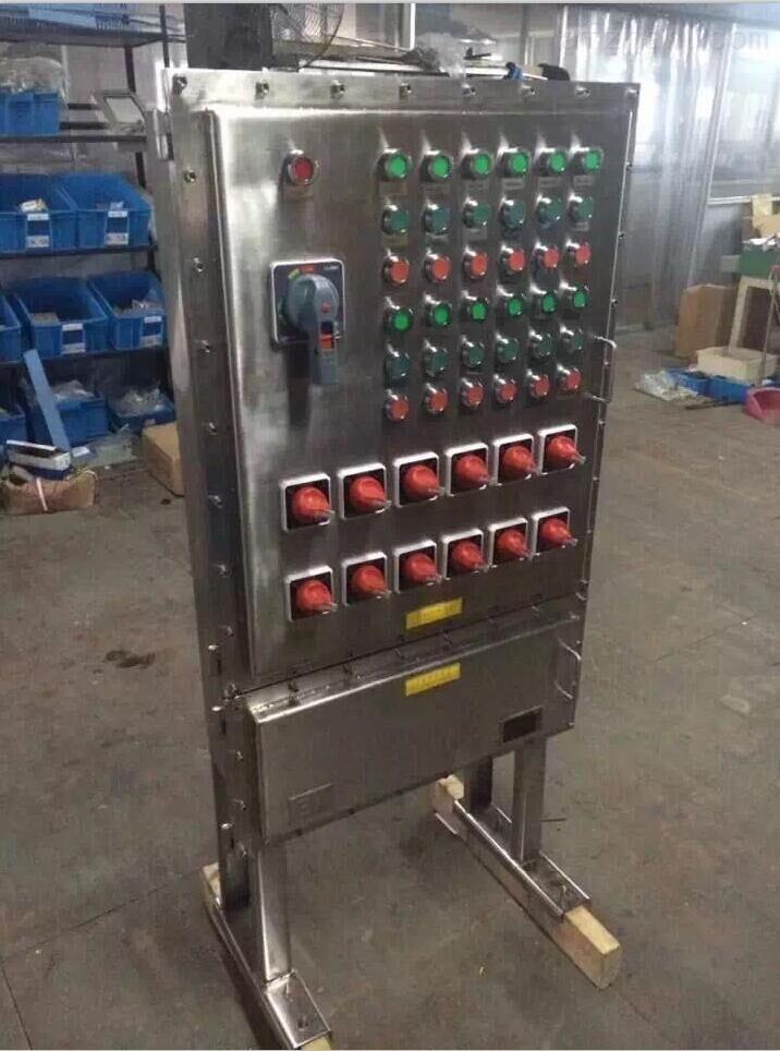 22kw风机启动防爆控制柜-不锈钢变频器防爆控制柜-plc防爆控制柜-面板