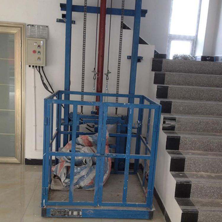单导轨式液压升降机货梯,单臂式升降厂房货物提升机