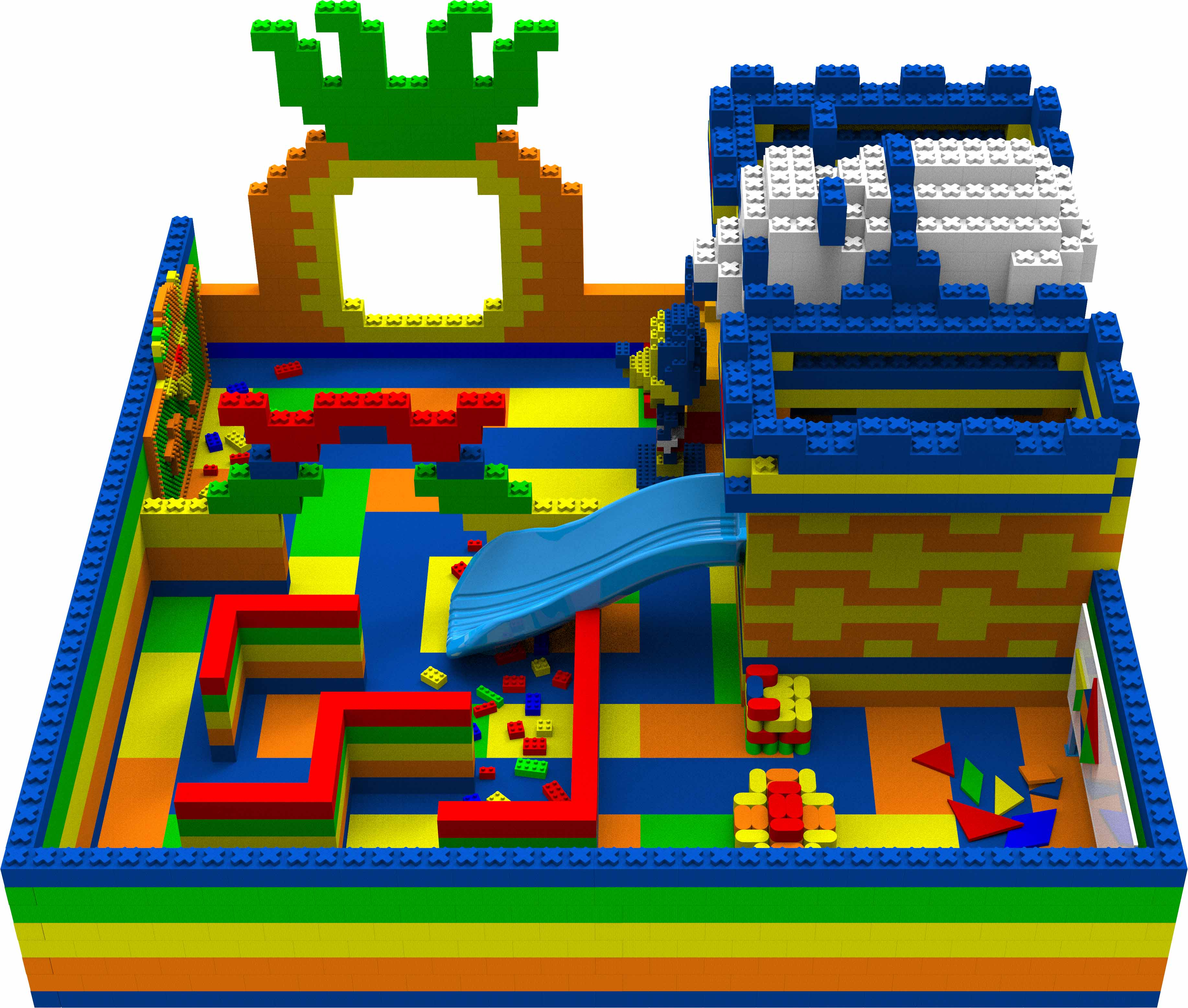 幼儿园大型epp智力方块积木乐高拼搭组合玩具储物柜儿童椅游乐园
