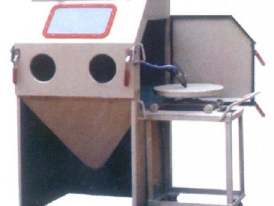 泰源9080F-A轨道转台式喷砂机