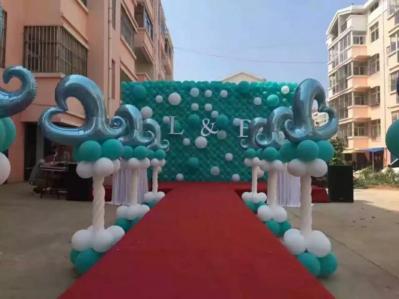 西安气球婚礼,婚礼现场气球布置,地爆球,气球宝宝宴
