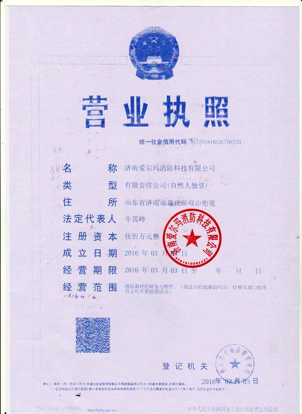 濟南愛爾瑪消防科技有限公司