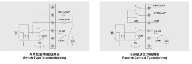 电动球阀接线图