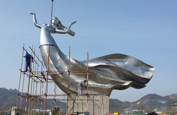 湖南镜面不锈钢雕塑