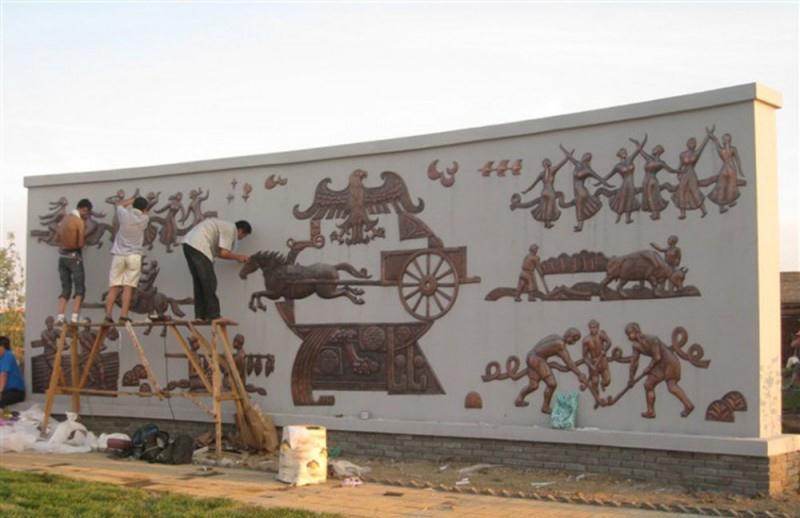 校园浮雕壁画