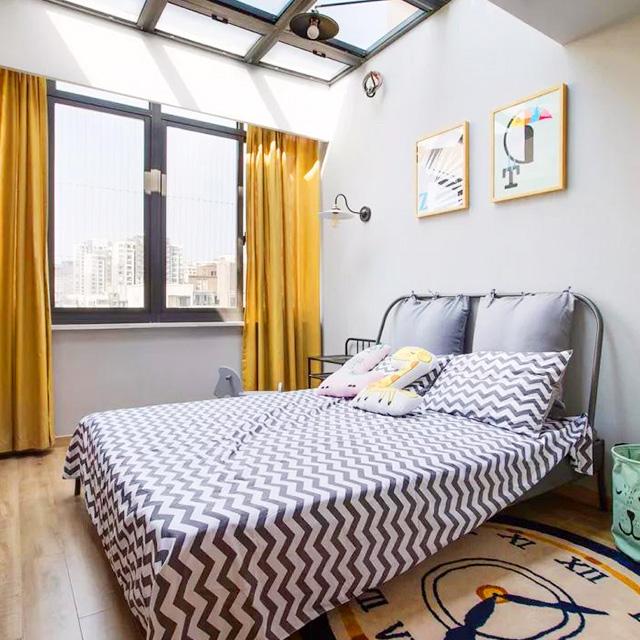 北欧小房大宅装修设计,银川三居,玻璃别墅屋顶间的榻榻米设计图图片