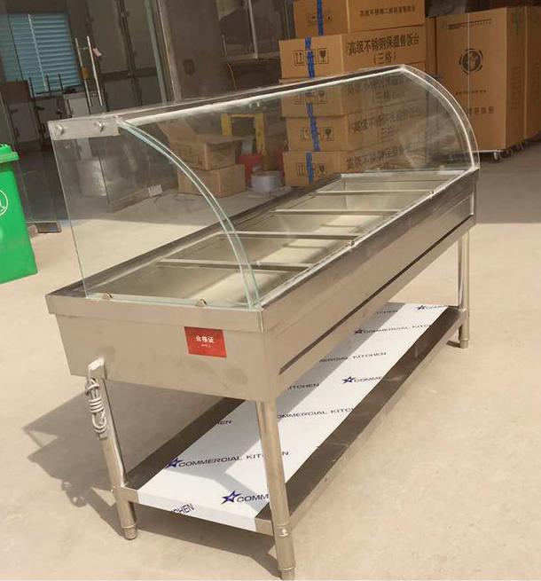 淮南做保溫售飯臺的廠家定做保溫展示柜