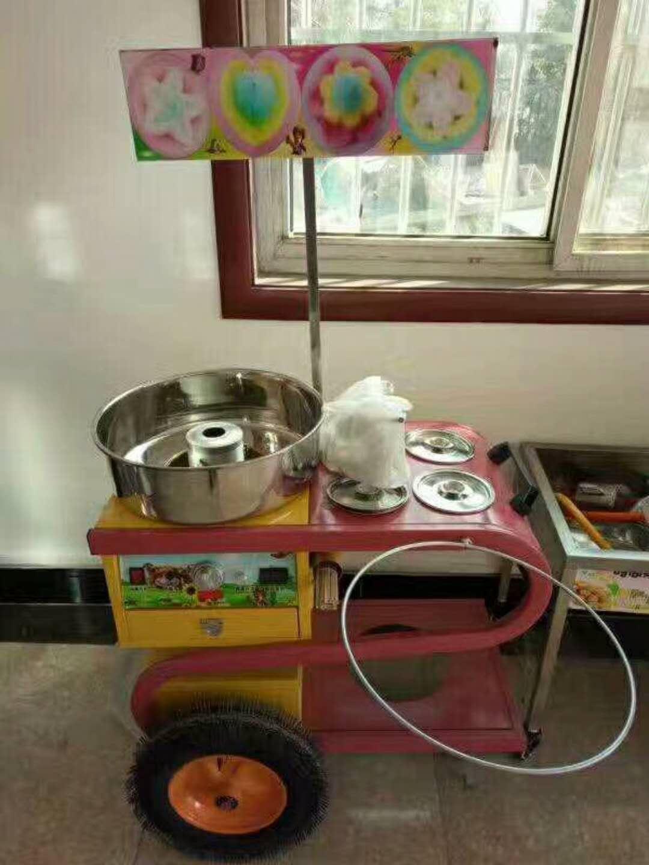 信陽有賣手推車棉花糖機的慈溪批發手推車棉花糖機價格