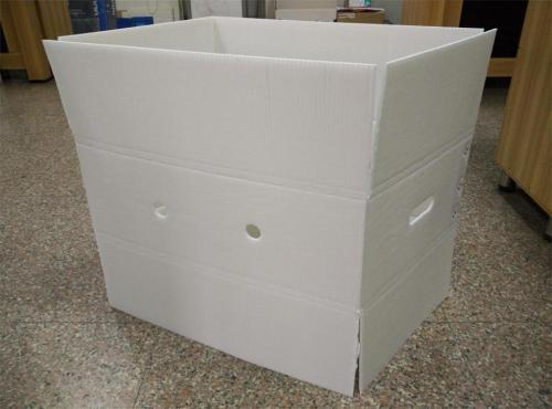 佛山环保纸箱型塑料折叠周转箱