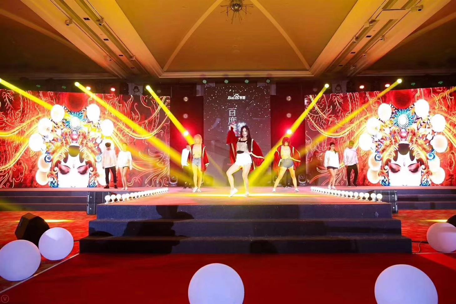 上海发布会LED大屏幕木结构背景板