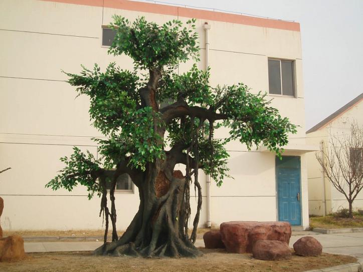 水泥仿真树效果图