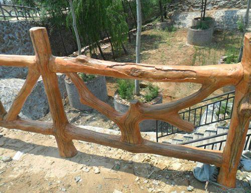 仿真仿木栏杆建设