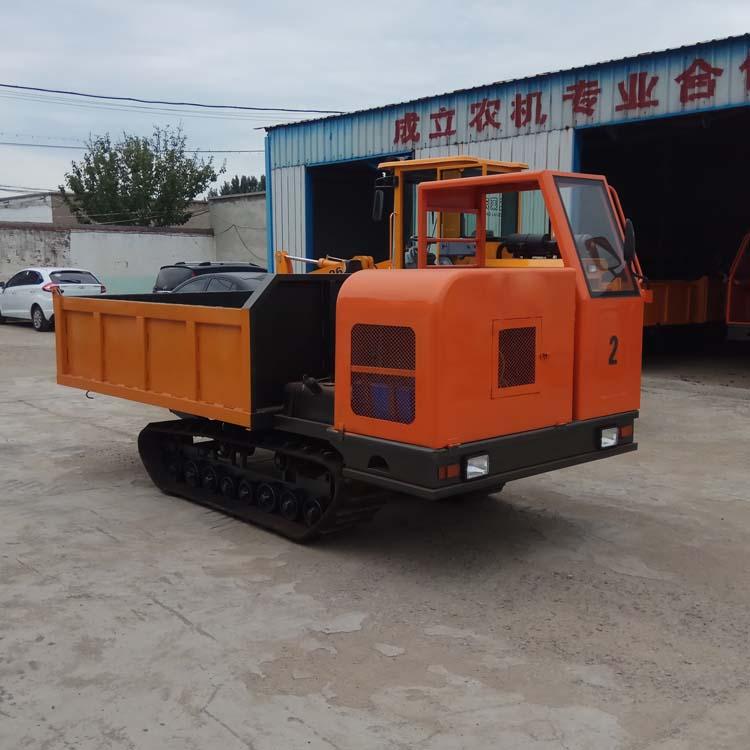 拉混凝土履带运输车 履带式拖拉机 农用履带自卸翻斗车图片