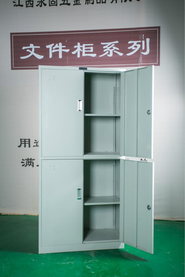 贛州鐵皮文件柜永固4鐵門文件柜