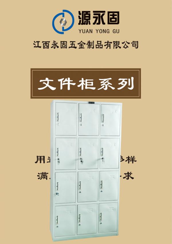 贛州鐵皮文件柜用12門儲物柜