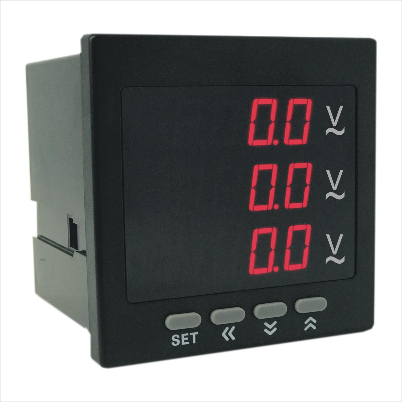 奥宾AOB184Z-9X4-3U数显三相电压表质优价廉 奥宾