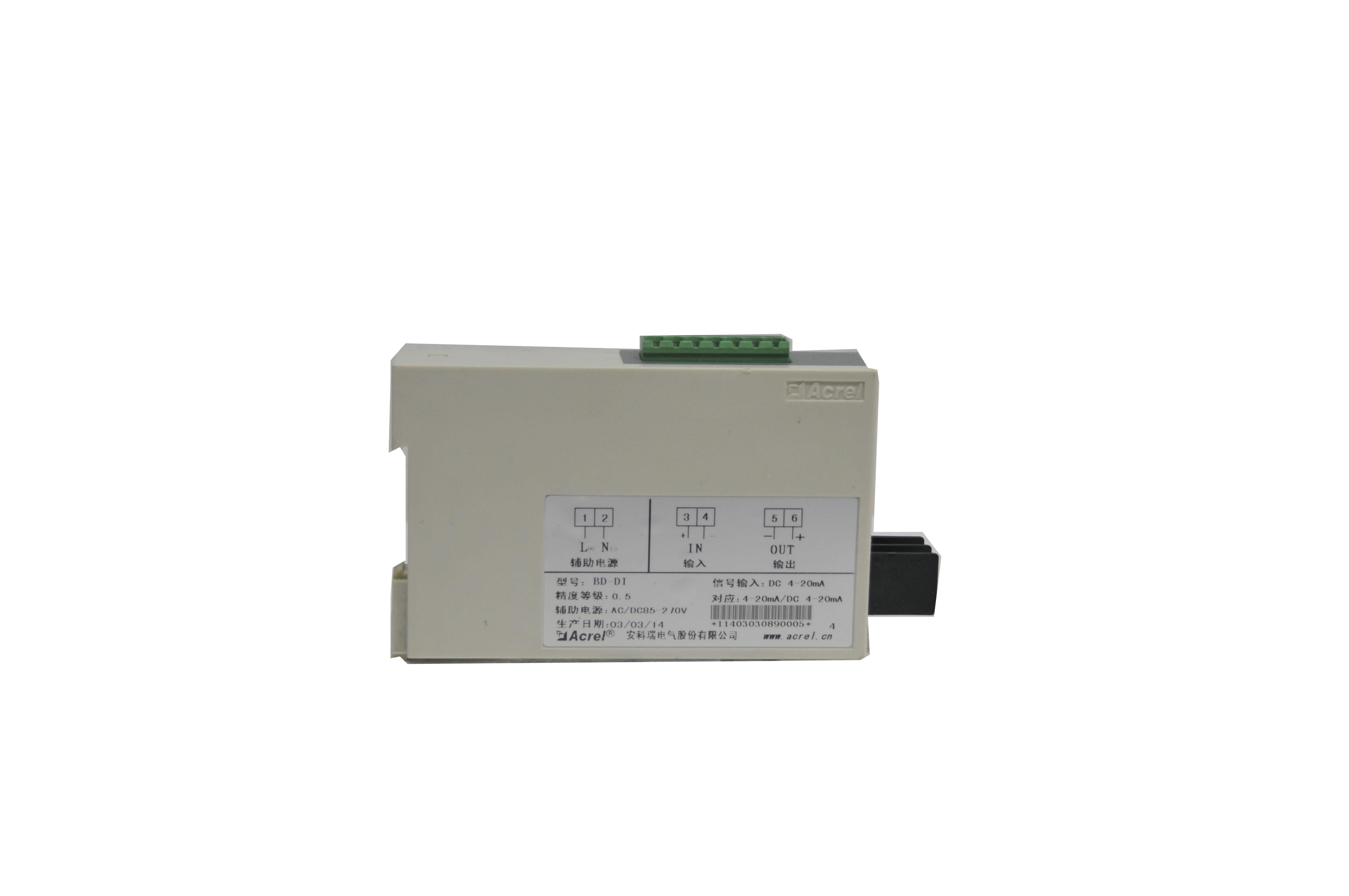 ACREL安科瑞單相電流變送器BD-AI2 2路隔離變送輸出4-20mA
