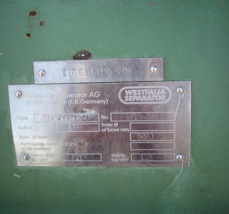 收购回收阿法拉伐碟片式离心机