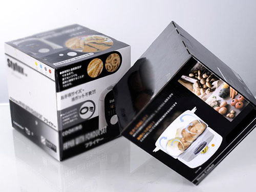 白卡纸单铜纸盒加工印刷 彩盒定制LOGO 五色印刷 防乱花哑膜