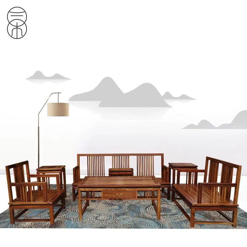 香港二木新中式湖北武汉价格实木定制沙发红木家具卡森家具玛吉图片