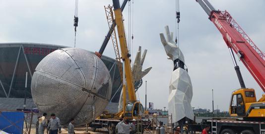 惠州烤漆不锈钢雕塑