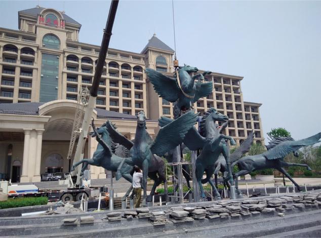景德镇铜牛雕塑