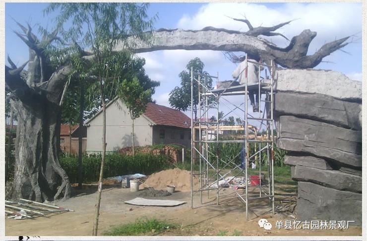 山西假树门头制作方法