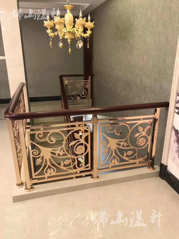 广州铜艺铝艺楼梯扶手定制