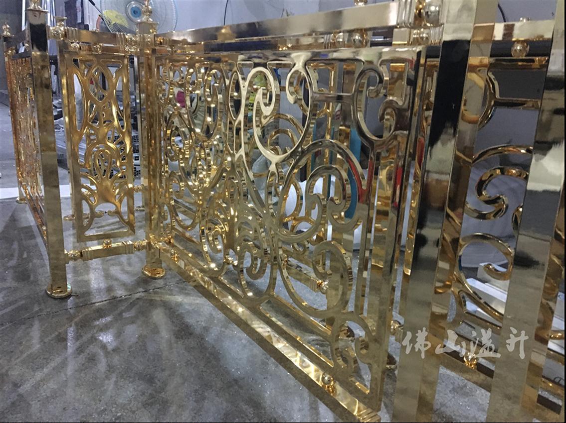 保定浮雕铜艺楼梯护栏