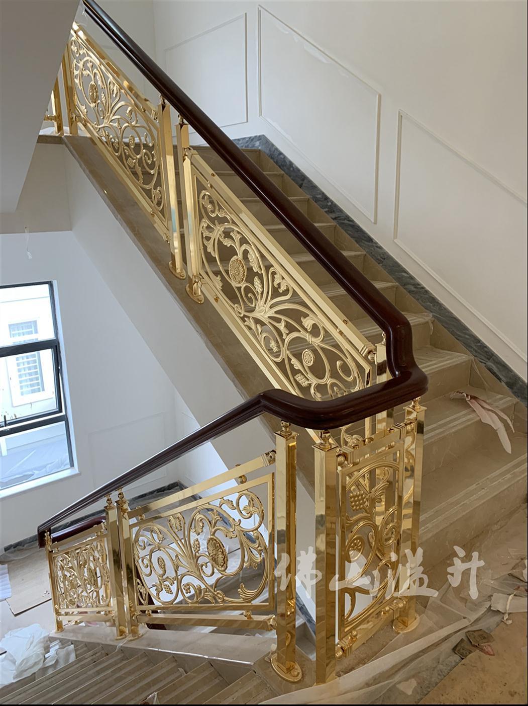 保定铜艺楼梯护栏加工