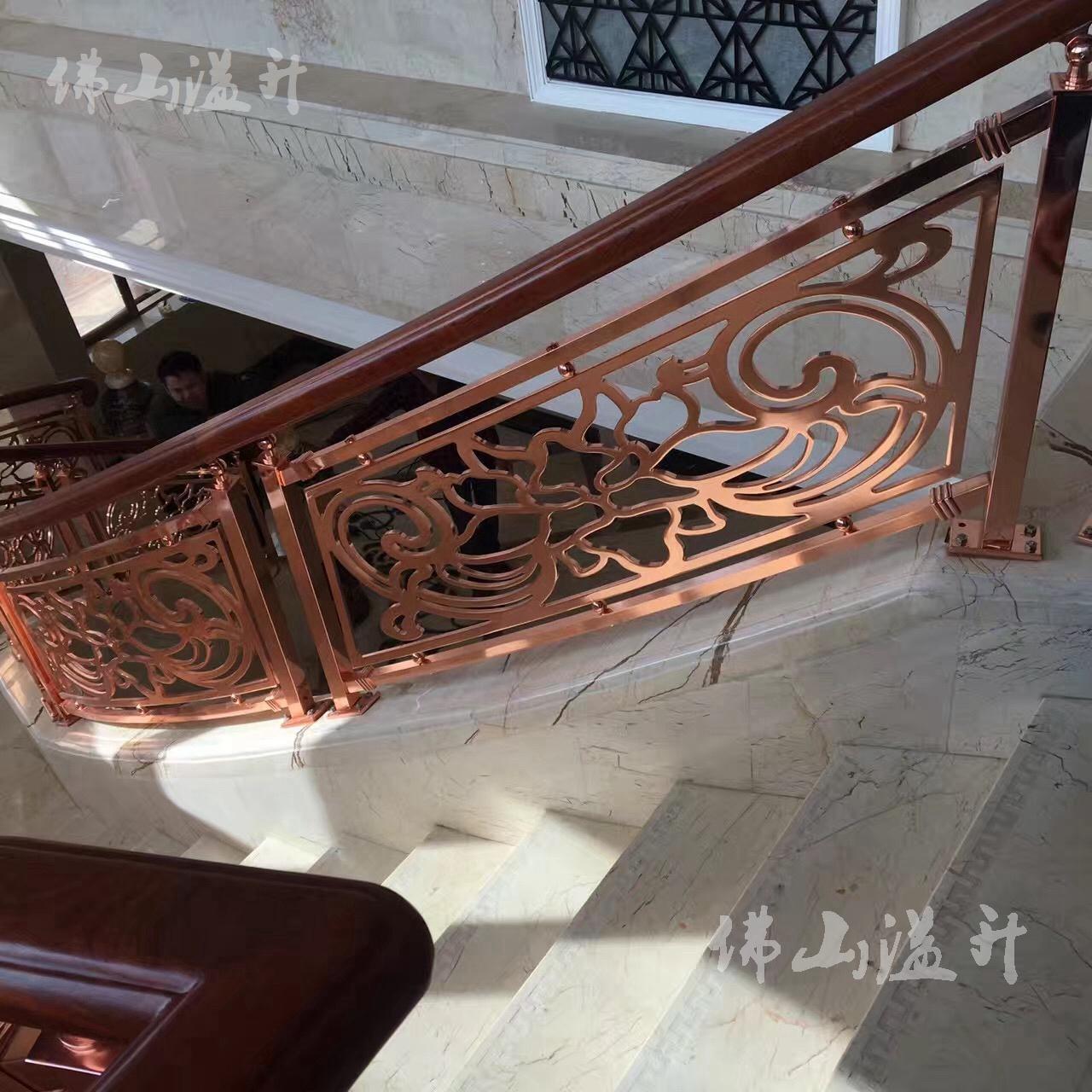 上海铝板雕刻扶手阳台栏杆