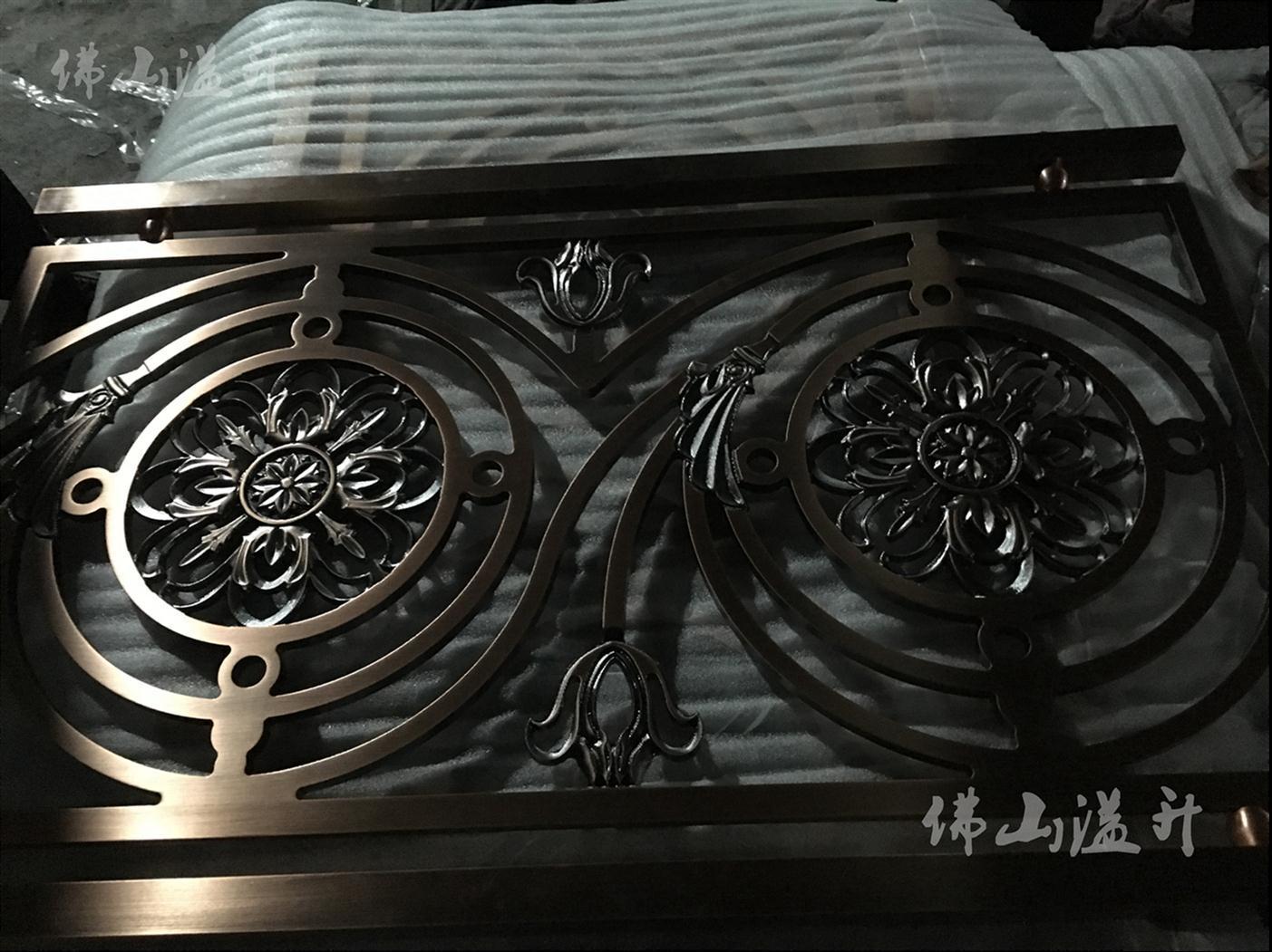 杭州铜板铝板雕刻扶手护栏