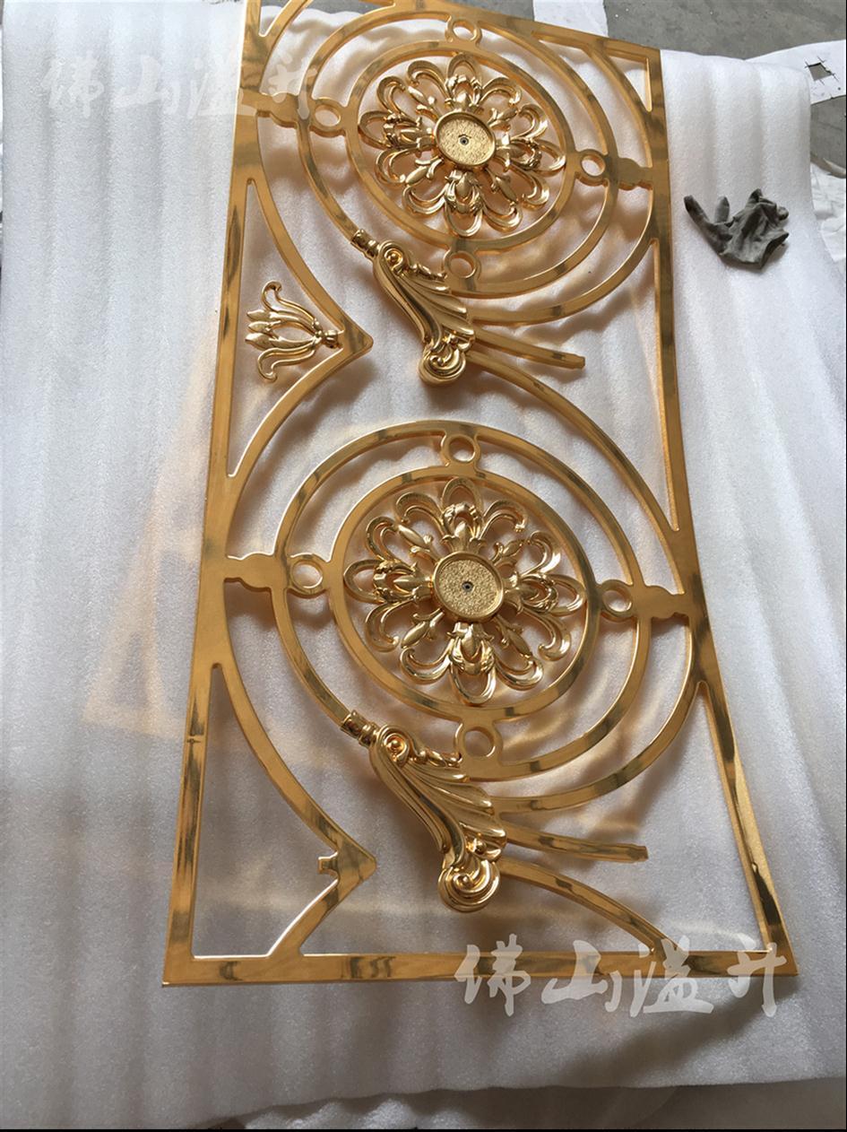 重庆铜板铝板雕刻扶手护栏