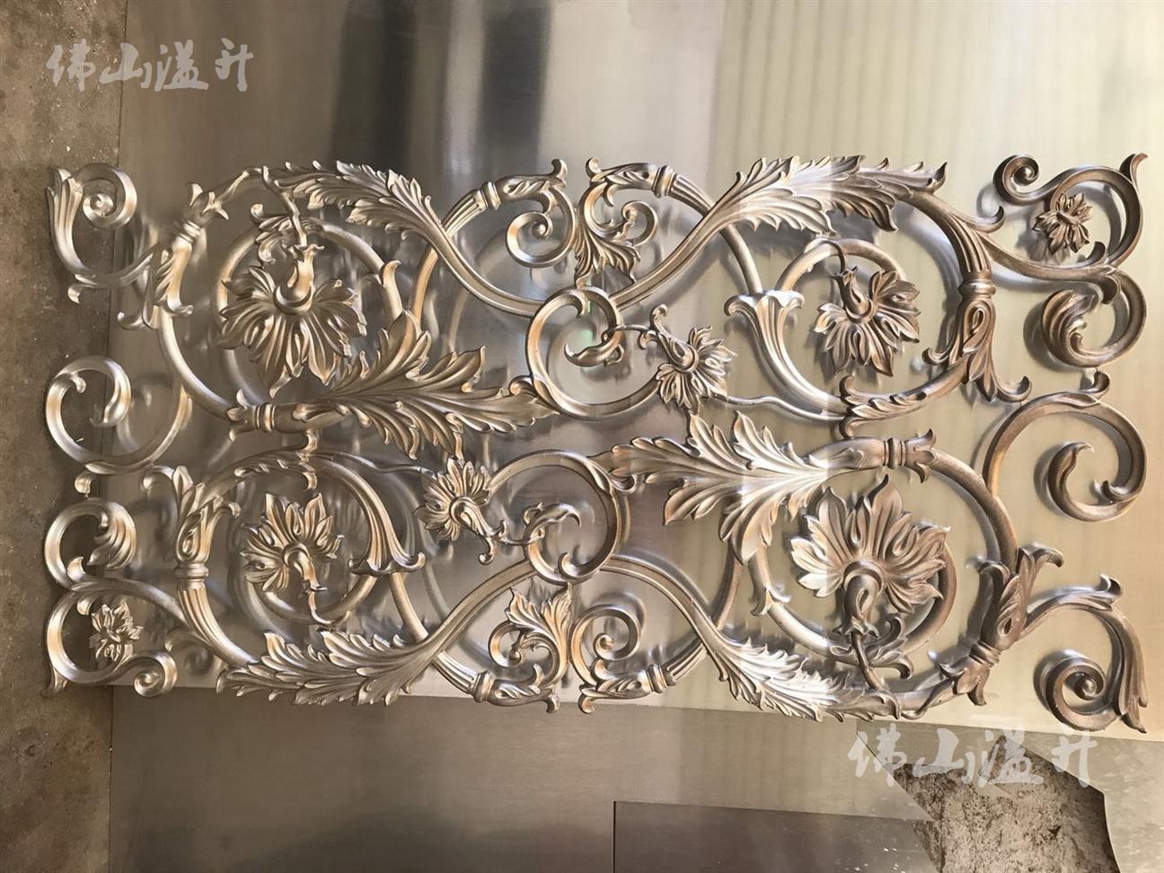 常德特价铝板雕花隔断