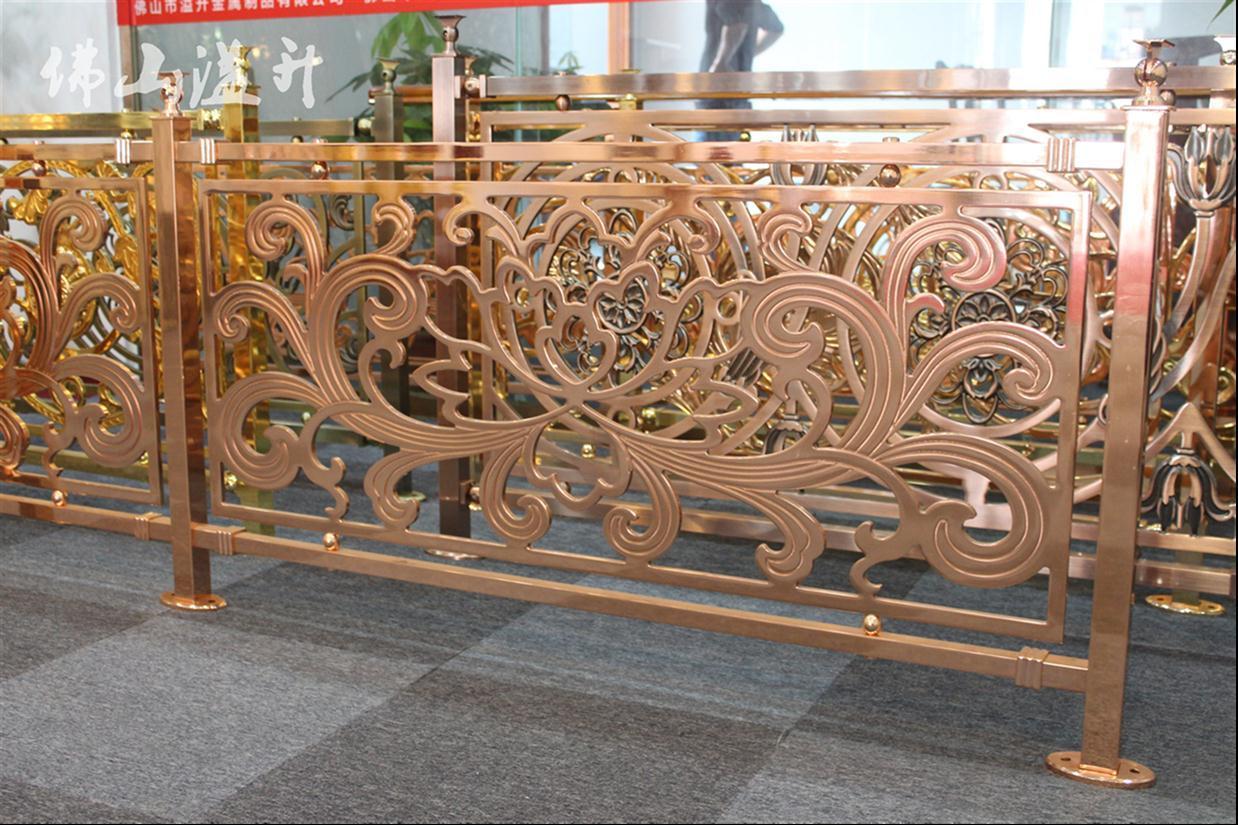 长春K金铜楼梯围栏栏杆