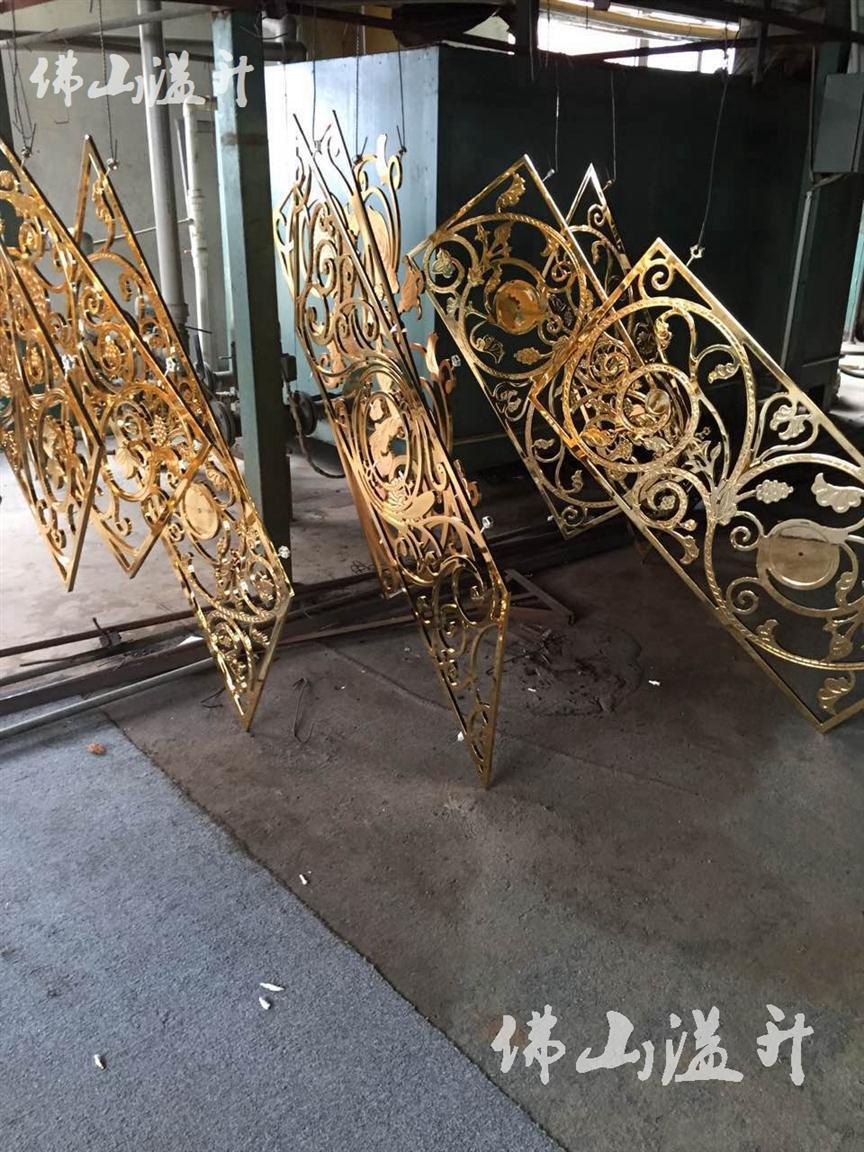 泉州24K金铝板楼梯