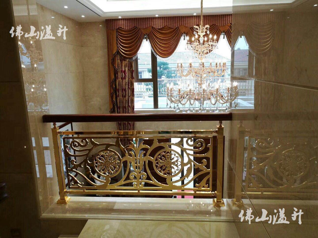 新乡别墅铝雕花楼梯扶手