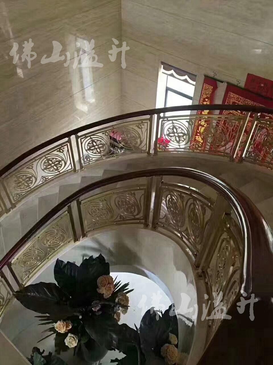北京别墅铜艺楼梯扶手费用
