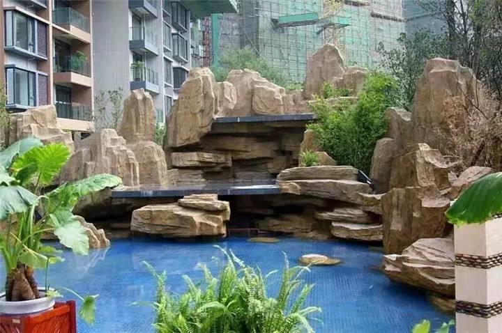 专业承接grc塑石假山制作厂家