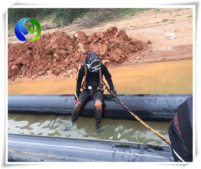 水下倒虹吸管道安装闸门水下检查水下堵漏封堵